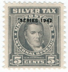 (I.B) US Revenue : Silver Tax 5c
