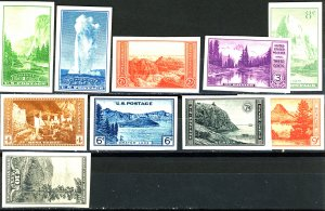 U.S. #756-765 MINT NG SET
