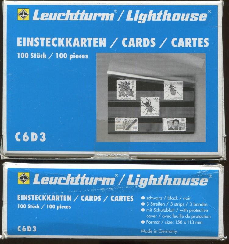 Lot of 5 Boxes - Lighthouse Premium Stamp Collector Stock Cards - C6D3 500 Cards