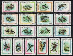 Barbuda Birds 18v SG#503-520 MI#187-504