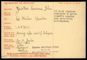 UK 1942 RAF Germany Cologne Raid MIA POW Camp Red Cross Cover Catholic Swi 89650