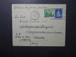 Ireland 1946 Cover to France / Re-Addressed - Z12359