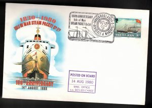 ISLE OF MAN Event Cover - 150th Anniversary Isle Of Man Steam Packet Co
