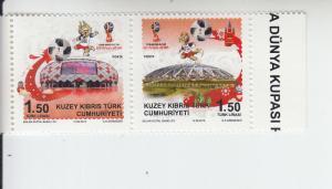 2018 Turkish Northern Cyprus World Cup Soccer Russia 2018 Pr (Scott 820) MNH