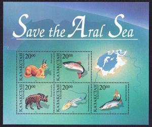 Kazakhstan Animals Fish - Save the Aral Sea MS SG#MS119 MI#Block 4