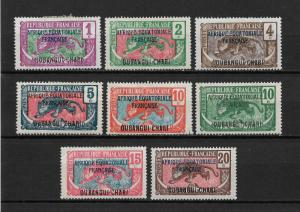Ubangi-Shari 1924-26,8 stamps,Sc 41//49,VF Mint Hinged*OG (FC-6)