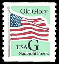 PCBstamps   US #2893 (5c)Flag, green back G, coil, MNH, (1)