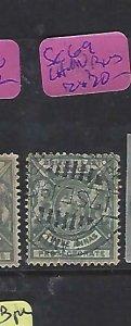BRITISH EAST AFRICA (P1809B)  LION  QV 3 A  SG  69   LAMU DOUBLE RING   VFU