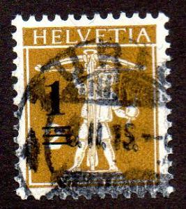 Switzerland  Scott  186  Used