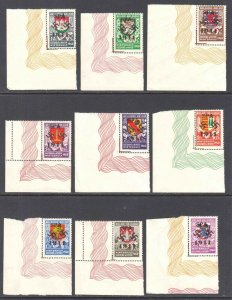 BELGIUM B264-B272 UNLISTED SPA OVPT €250+ OG NH U/M ALL WITH LATHEWORK SELVAGE