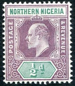 NORTHERN NIGERIA-1905 ½d Dull Purple & Green Sg 20 LIGHTLY MOUNTED MINT V25973