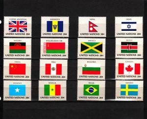 UNITED NATIONS 399-414 MNH 2019 SCOTT SPECIALIZED CATALOGUE VALUE $4.00