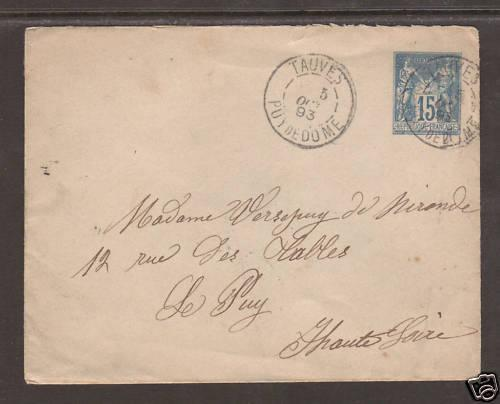 France H&G 2a 1893 Postal Stationery w/15c indicium 4;9