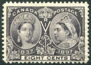 CANADA-1897 Jubilee 8c Slate-Violet Sg 130 LIGHTLY MOUNTED MINT V30143