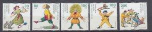 J29733, 1994 germany set mnh #b762-6 childrens stories