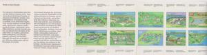 Canada USC #BK87 Complete Booklet Cat. $16. 1985 34c Forts 10 Diff. Stamps