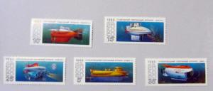 Russia - 5941-45, MNH Set. Submarines. SCV - $2.70