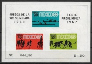 1967 Mexico 983a Summer Olympics MNH S/S