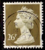 Great Britain - #MH256 Machin Queen Elizabeth II - Used