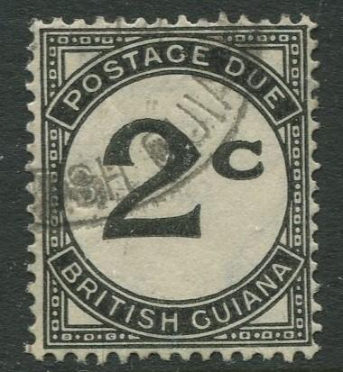 British Guiana - Scott J2 - Postage Due -1940-55 - FU - Single 2c Stamp