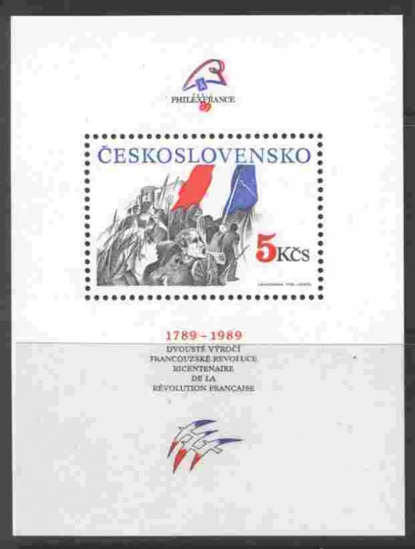 Czechoslovakia 2746 MNH French Revolution, Flags, PHILEXFRANCE