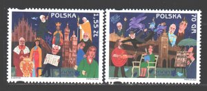 Poland. 2000. 3825-26. Krakow is the cultural capital of Europe. MNH.