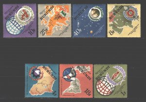 Burundi. 1965. 193-99. International Year of Cooperation Sputnik. MNH.