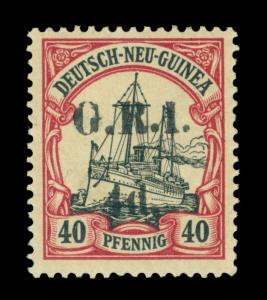 German Colonies - NEW BRITAIN G.R.I. NEW GUINEA  4d/ 40pf lake  Sc# 24 mint MH