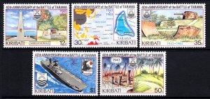 Kiribati 1983 Battle of Tarawa Complete Mint MNH Set SC 431-435