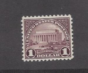 United States, 571, $1 Lincoln Memorial F-VF Single,**MNH**