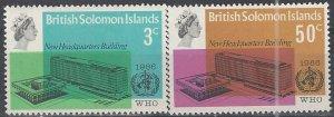 Solomon Islands  169-70  MNH  WHO Headquarters  1966