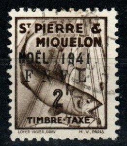 St Pierre & MIquelon  #J56 F-VF Used  CV $140.00 (X9459)