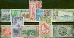 Barbados 1950 set of 12 SG271-282 Fine Lightly Mtd Mint
