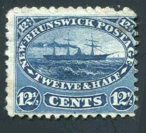 New Brunswick Canada Sc # 10 12½¢ Steam Ship Unused No Gum 1860-1863