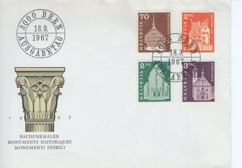 SWITZERLAND -  1967 Definitive Issues FDC5339