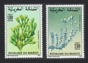 Morocco Flowers 2v issue 1987 SG#729-730