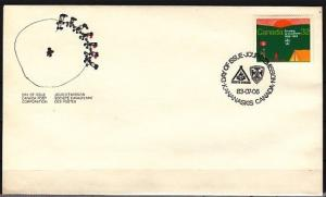 Canada, Scott cat. 993. Scout Anniversary issue. First day cover. ^