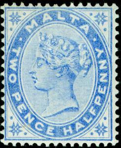 MALTA SG26, 2½d ultramarine, M MINT. Cat £48.