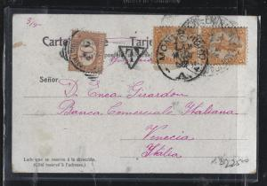 PARAGUAY  (PP2604B)  PPC 5CX2 SHORT PAID TAXED TO ITALY  10C POSTAGE DUE