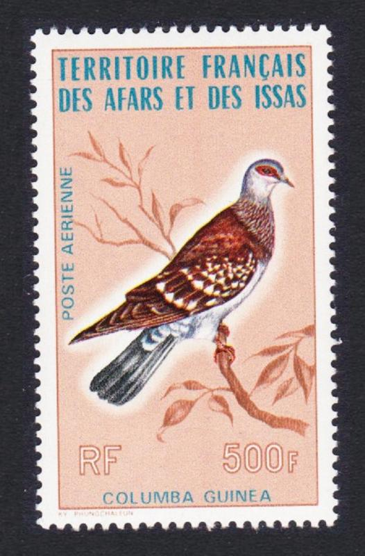 Afar and Issa Speckled Pigeon Columba guinea 1v 500f SG#655 SC#C102
