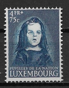 Scarce in MNH condition 1950 Luxembourg B159  4f+75c Wards of the Nation