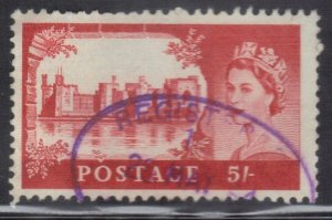GREAT BRITAIN SC #310   5sh  1955     SEE SCAN