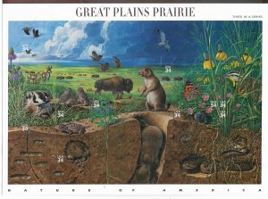 USA 3506 MNH SHEET GREAT PLAINS PRAIRIE