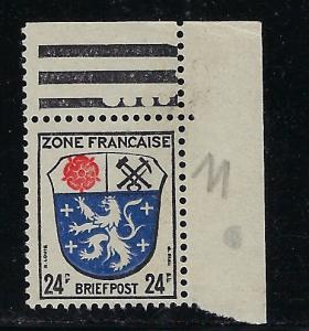Germany - under French occupation - Scott # 4N9, mint nh