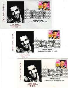 Sc# 2721 with Commemorative Sleeve Elvis Presley 1993 sheet of postage stamps