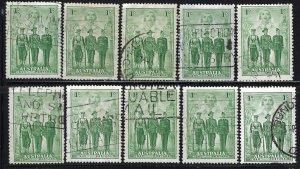 Australia 184 Used Lot of 22 (See Desc); SCV $33.00 ($1.50ea)