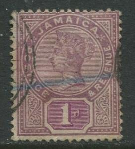 Jamaica -Scott 24 - QV Definitive - 1889 - Used - Single 1p Stamp