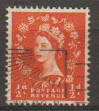 Great Britain SG 561 Used 2 graphite lines on reverse