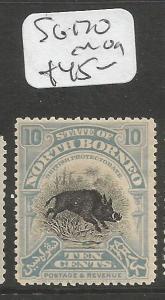 North Borneo SG 170 MOG (7clu)