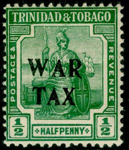 TRINIDAD AND TOBAGO SG177, ½d green, M MINT.
